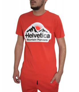 T- shirt HELVETICA rouge - POST - H500 RED