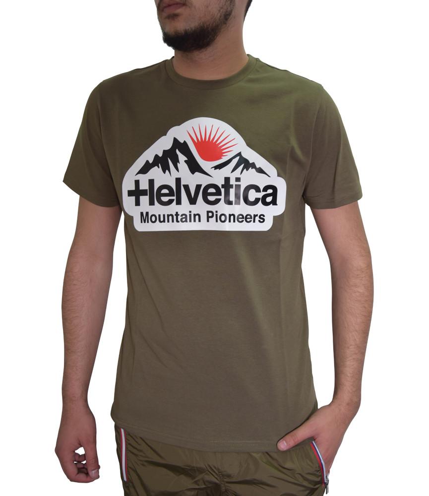 T-shirt HELVETICA kaki - POST - H500 KAKI