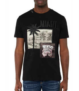 Tshirt MY BRAND Noir - CITY MIAMI T-SHIRT