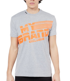 Tshirt MY BRAND Gris - MB STRIPES T-SHIRT