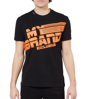 T-shirt MY BRAND Noir - MB STRIPES T-SHIRT