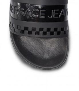 Claquettes Versace Jeans noir - EY0TBSQ4