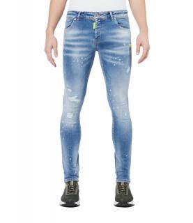 Jeans My Brand bleu -  NEON YELLOW DENIM LIGHT JEANS 1-X21-003-B-0003