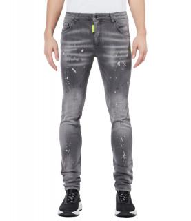 Jeans My Brand gris - NEON YELLOW DENIM GREY JEANS - 1-X21-003-B-0004