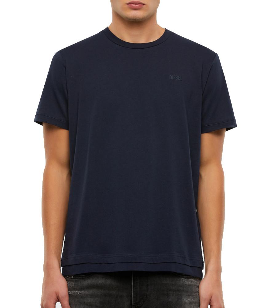 T-shirt DIESEL bleu - A00400 - 0HAYU - 86V T- DIAMANTIK