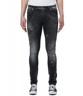 Jeans My Brand noir - DENIM BLACK DISTRESSED JEANS - 1X21-003-B-0010