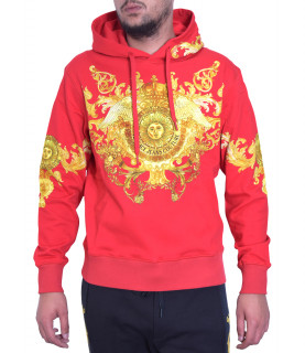 Sweat Versace Jeans Couture rouge - B7GWA7F7 - WUP306co hoddie PANEL BAROQU