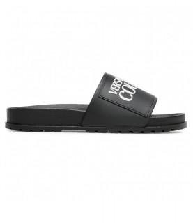 Claquette Versace Jeans Couture noir - E0VWASQ2 - LINEA FONDO SLIDES DIS. SQ2