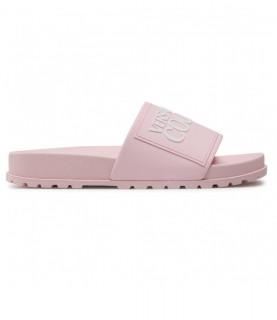 Claquettes Versace jeans couture rose - E0VWASQ2 - LINEA FONDO SLIDES DIS. SQ2