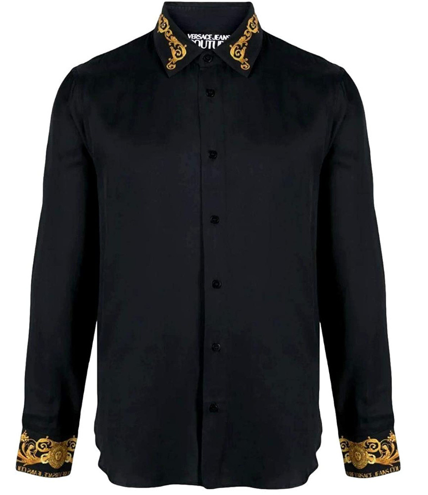 Chemise Versace Jeans Couture noir - B1GWA6S3 - WUP201co slim CONTR BAROQUE