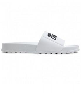 Claquettes Versace jeans couture blanche - E0VWASQ2 - LINEA FONDO SLIDES DIS. SQ2