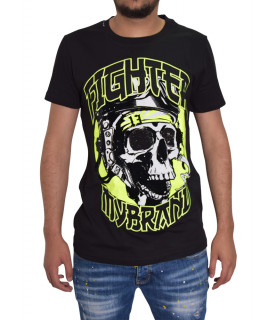 T-shirt MY BRAND noir - MMB - TS012 - MT071 HELMET SKULL