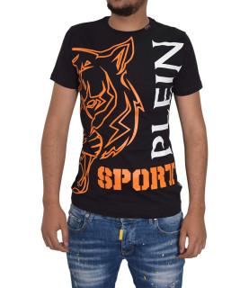 T-shirt tigre PLEIN SPORT noir orange - P17C MTK0559 SJY001N