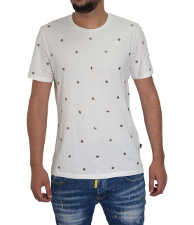 T-shirt JUST CAVALLI blanc - S03GC0394