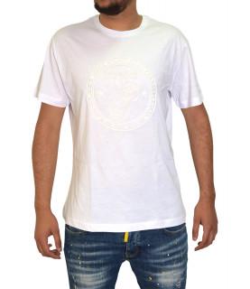 T-shirt VERSACE JEANS blanc - B3GTB72E - RUBB 34 SLIM MC