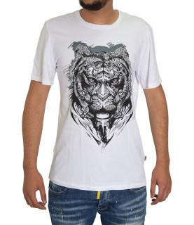 T-shirt JUST CAVALLI blanc - S03GC0361