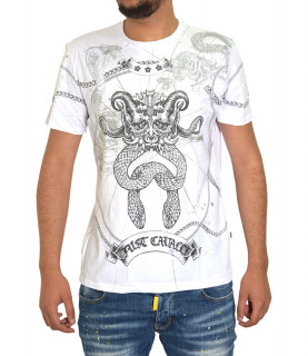 T-shirt JUST CAVALLI blanc S01GC0469