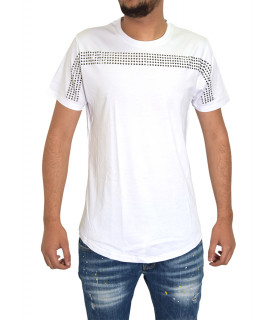 Tee shirt RICHARD VALENTINE Blanc - axel strass