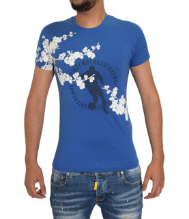 T-shirt Bikkembergs bleu - C 7 23S FS E B023