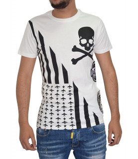 T-shirt blanc PHILIPP PLEIN FW16 HM340986