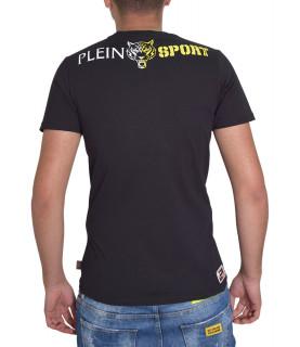 T-shirt PLEIN SPORT noir jaune - P17C MTK0559 SJY001N