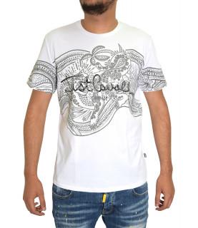 T-shirt JUST CAVALLI blanc - S01GC0510