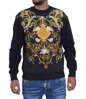Sweat VERSACE JEANS COUTURE noir - B7GWA7F4 - WUP302co PANEL TUILLEREIS