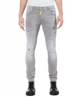 Jeans My Brand gris - DENIM GREY NEON YELLOW SPOTTED
