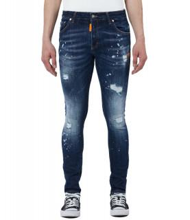 Jeans My Brand bleu - NEON ORANGE DARK DENIM JEANS