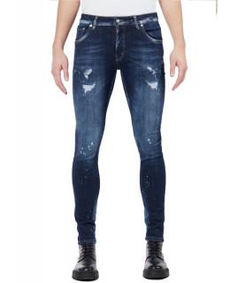 Jeans My Brand bleu - DARK DENIM FADED JEANS