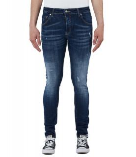 Jeans My Brand bleu - DARK DENIM SUBTLE DESTROYED JEANS