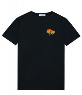 Tshirt My Brand noir - GRAFFITI DRIP T-SHIRT