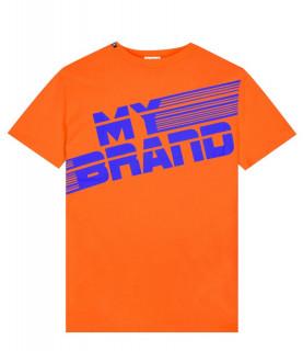 Tshirt My Brand orange - MB STRIPEST T-SHIRT