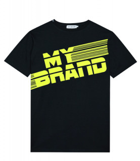Tshirt My Brand noir - MB STRIPES T-SHIRT