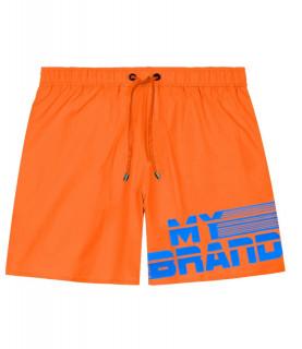Short de bain My Brand orange - MB STRIPES SWIMSHORT