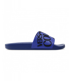 Claquettes Versace Jeans Couture bleu - E0YWASQ1 - LINEA FONDO SLIDE DIS SQ1