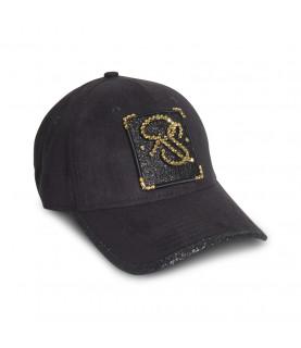 Casquette Redfills noir - RS STRASS GOLD