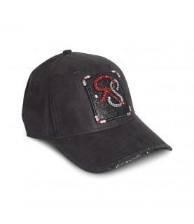 Casquette Redfills noir - RS STRASS RUBIS ET CRISTAL