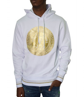 Sweat VERSACE JEANS COUTURE blanc - B7GWA7TX - WUPP306 ROUND FULL