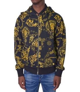 Sweat Versace Jeans Couture noir - 71GAI3Z0 - 71UP301 REG PRINT BIJOUX BAR