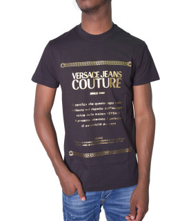 Tshirt Versace Jeans Couture noir - 71GAHT01 - 71UP600 S GARANZIA FOIL