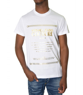Tshirt Versace Jeans Couture blanc - 71GAHT01 - 71UP600 S GARANZIA FOIL