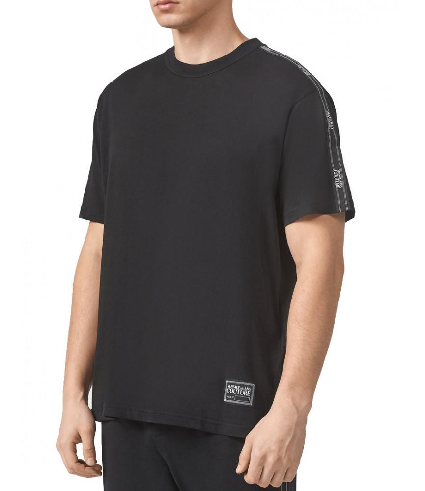 Tshirt Versace Jeans Couture noir - B3GWA7R2 - WUP601co REG TAPE LOGO