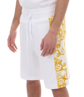 Short Versace Jeans Couture blanc - A4GWA130 - WUP327co CONTR PRINT BAROQUE