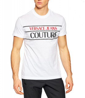 Tshirt Versace Jeans Couture blanc - B3GWA7TC - WUP600 SLIM 24 RUBBER