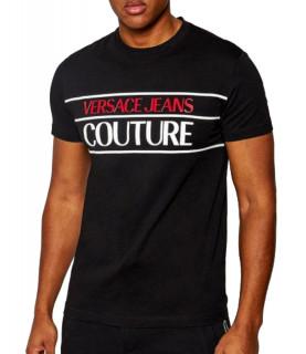 Tshirt Versace Jeans Couture noir - B3GWA7TC - WUP600 SLIM 24 RUBBER