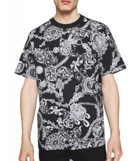 Tshirt Versace Jeans Couture noir - 71GAH6S0 - 71UP600 SLIM PRINT BIJOUX BA