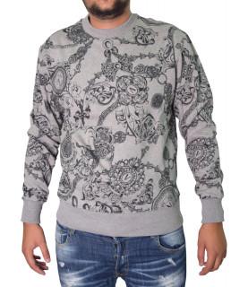 Sweat Versace Jeans Couture gris - 71GAI3R0 - 71UP302 REG PRINT BIJOUX BAR