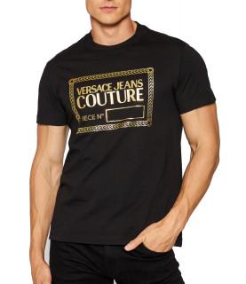 Tshirt Versace Jeans Couture noir - 71GAHT27 - 71UP600 S NR FOIL J00T G89