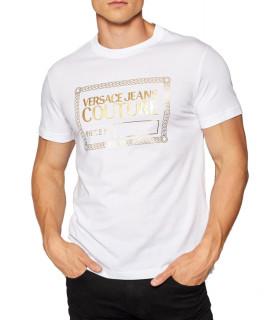 Tshirt Versace Jeans Couture blanc - 71GAHT27 - 71UP600 S NR FOIL J00T G03